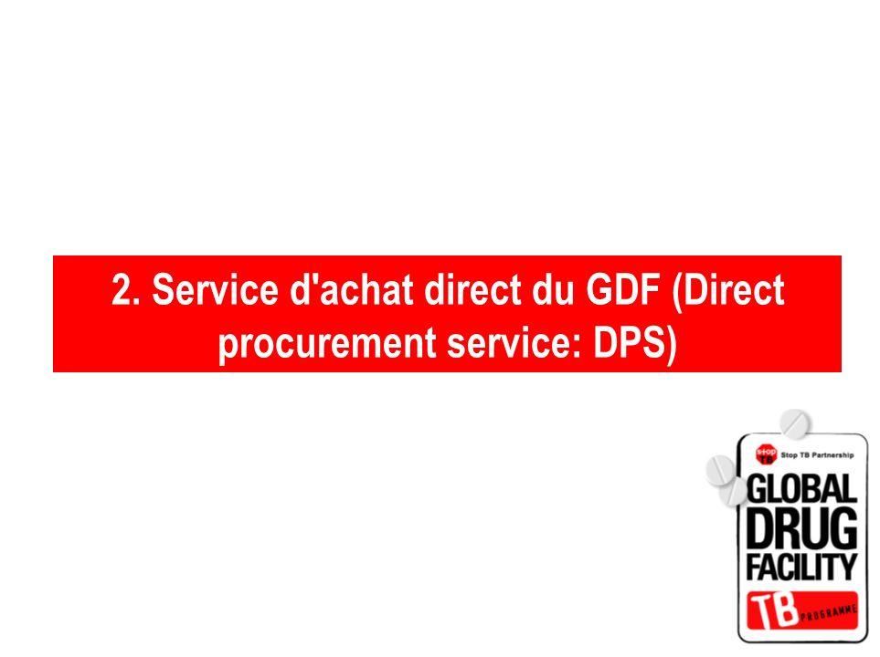2. Service d'achat direct du GDF (Direct procurement service: DPS)