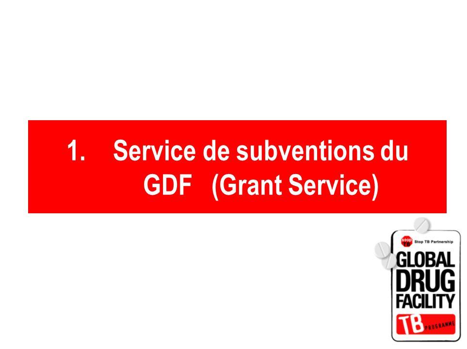 1.Service de subventions du GDF (Grant Service)