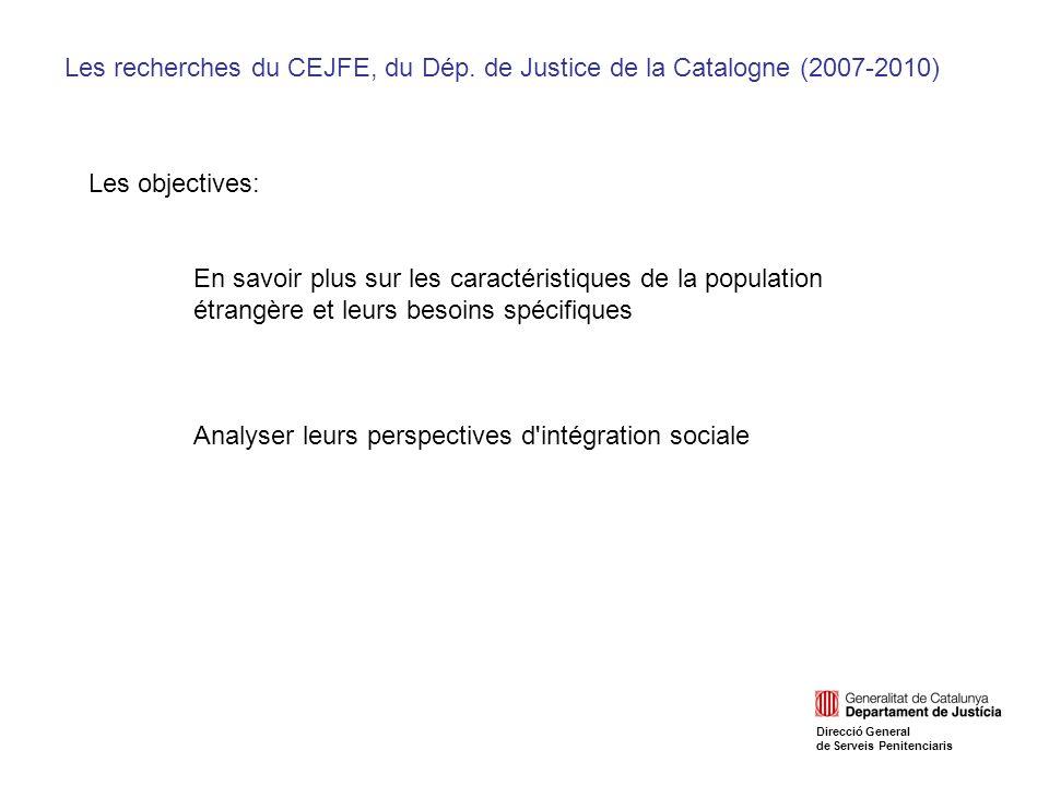 Les recherches du CEJFE, du Dép.