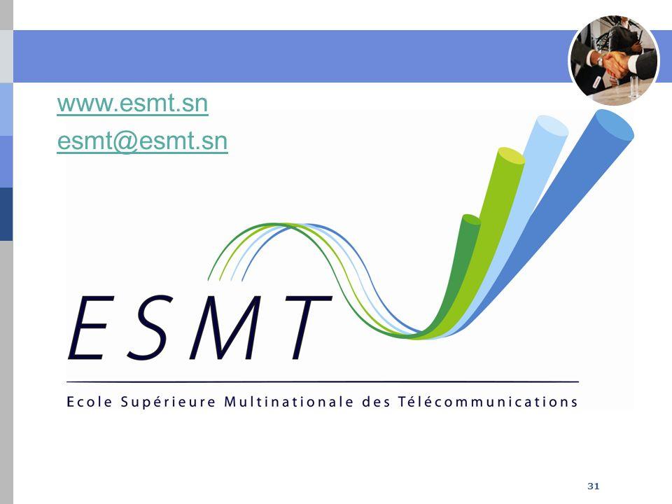 www.esmt.sn esmt@esmt.sn 31