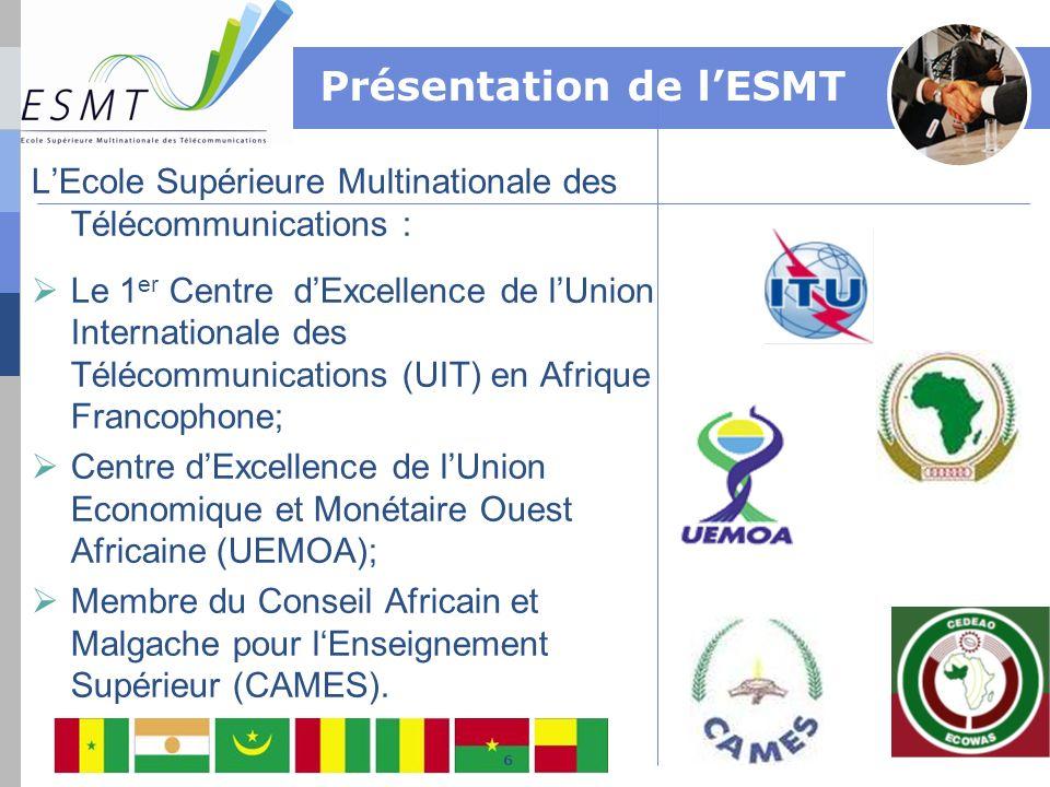 LEcole Supérieure Multinationale des Télécommunications : Le 1 er Centre dExcellence de lUnion Internationale des Télécommunications (UIT) en Afrique