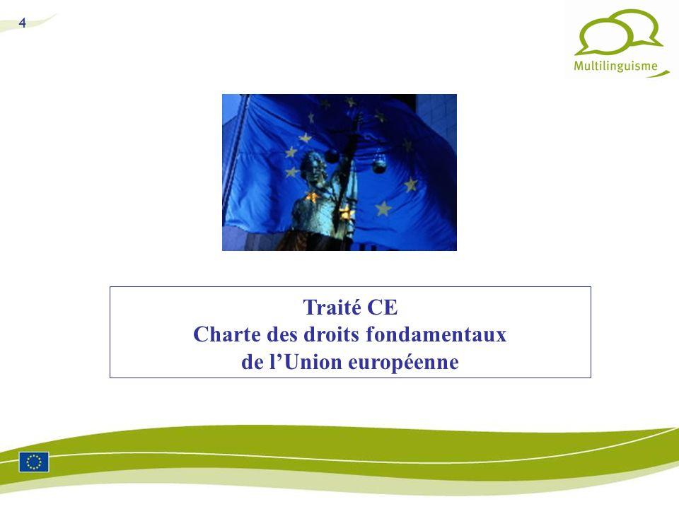 4 Traité CE Charte des droits fondamentaux de lUnion européenne