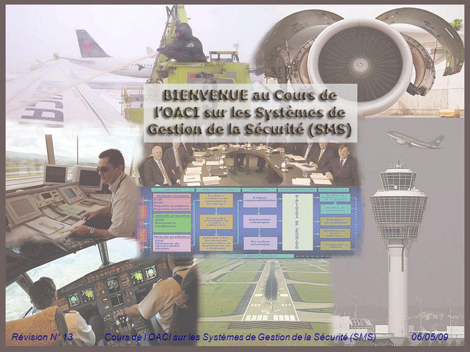 Module N° 1Cours de lOACI sur les Systèmes de Gestion de la Sécurité (SMS) 1 Révision N° 13Cours de lOACI sur les Systèmes de Gestion de la Sécurité (
