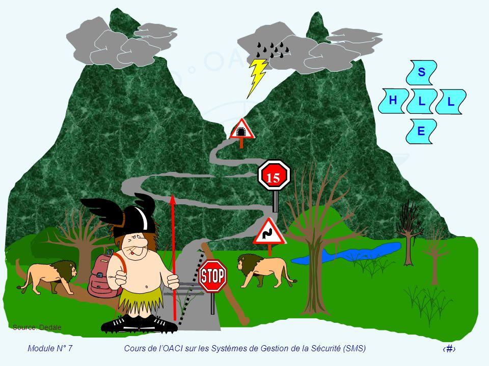 Module N° 7Cours de lOACI sur les Systèmes de Gestion de la Sécurité (SMS) 10 15 S H L L E Source: Dedale