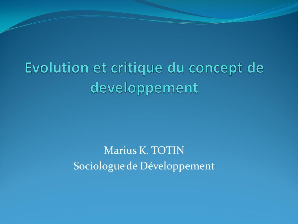 Marius K. TOTIN Sociologue de Développement