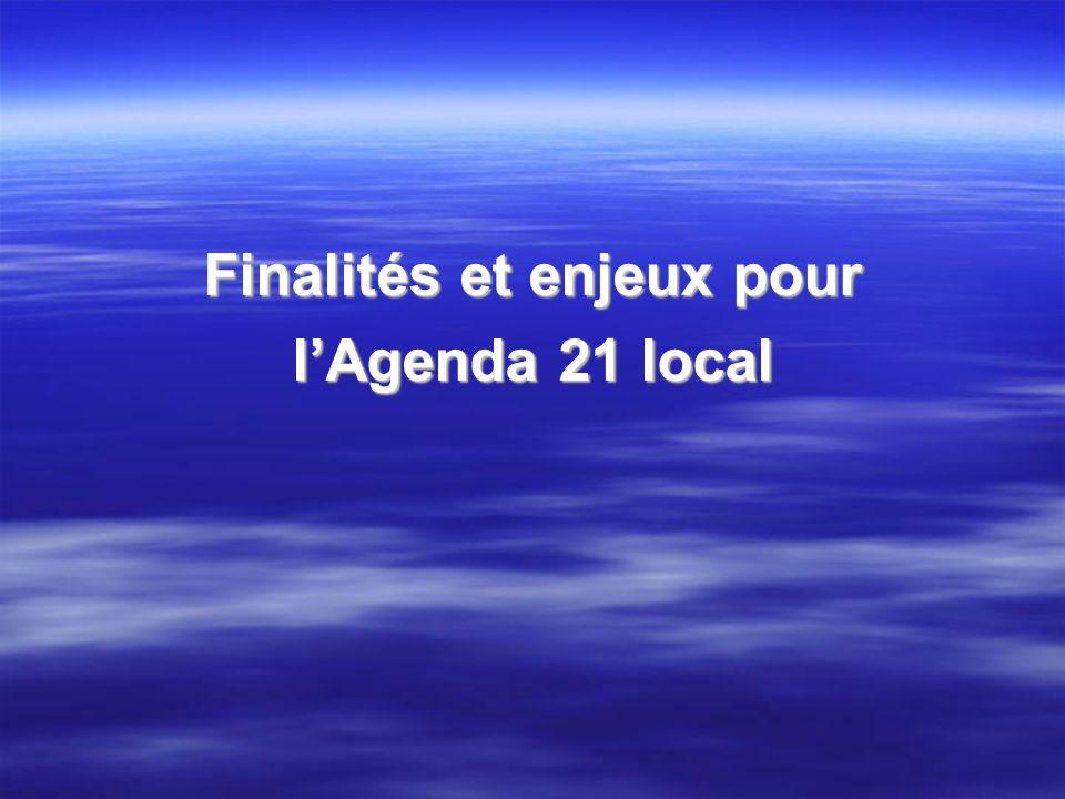 Finalités et enjeux pour lAgenda 21 local