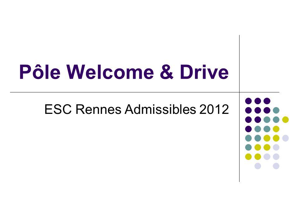 Pôle Welcome & Drive ESC Rennes Admissibles 2012