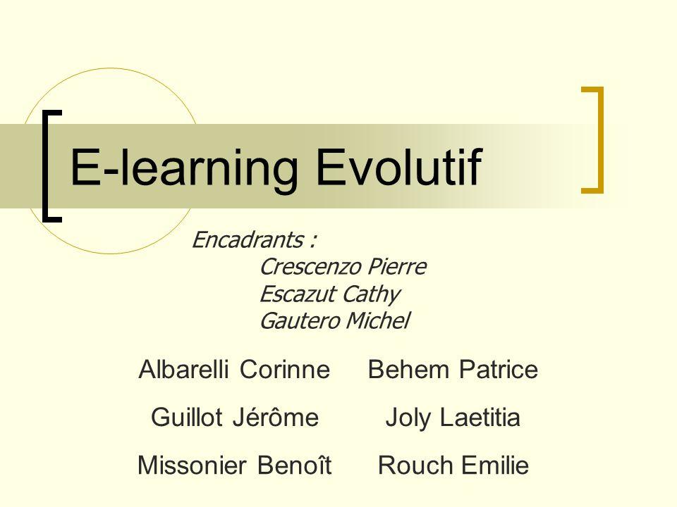 Sujet E-learning: cours sur Internet Evolutif: choix dune page dun cours adapté à létudiant