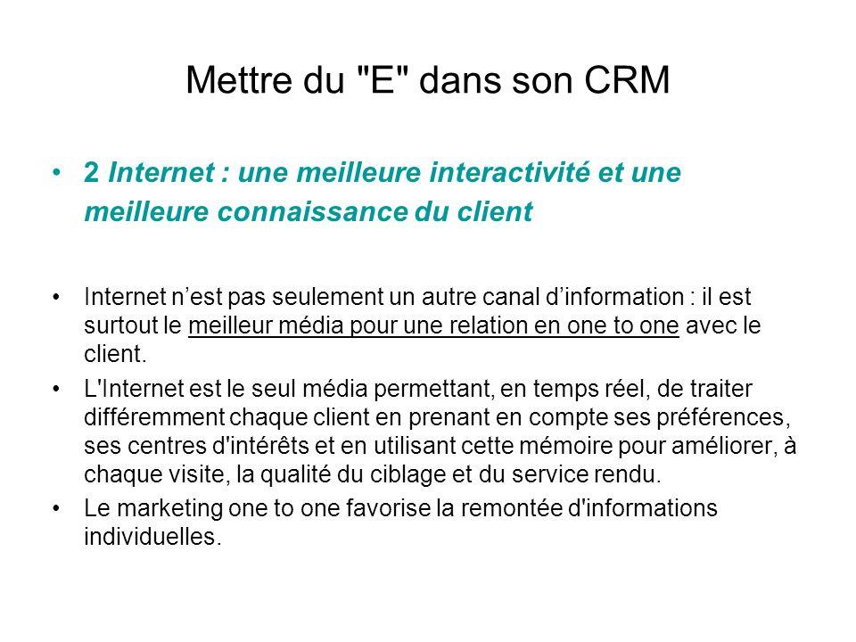 Mettre du E dans son CRM 3 Internet : une meilleure gestion de la relation client Une meilleure gestion commerciale grâce au partage d informations en temps réel aux informations accessibles de n importe où.
