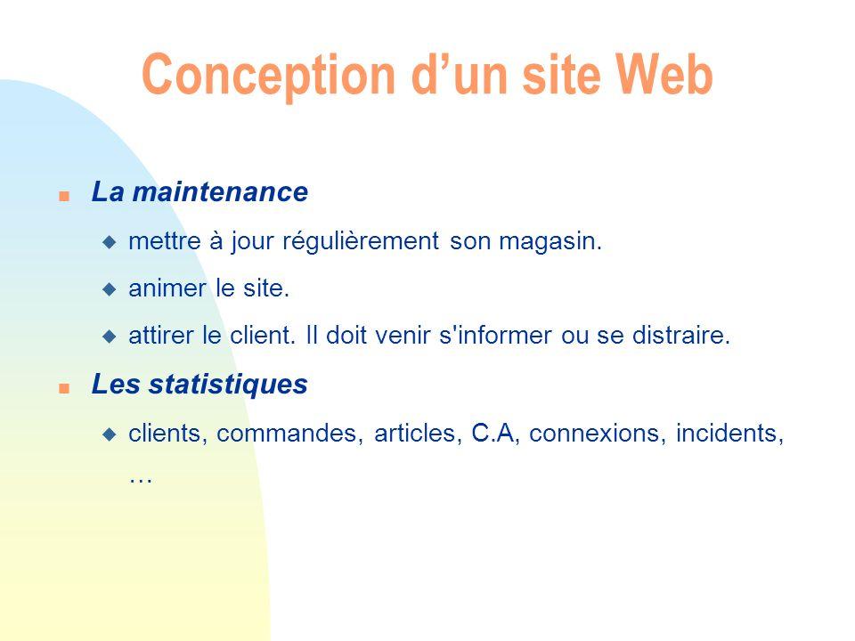 Conception dun site Web n Le juridique u Dépôt de marque du nom de domaine.