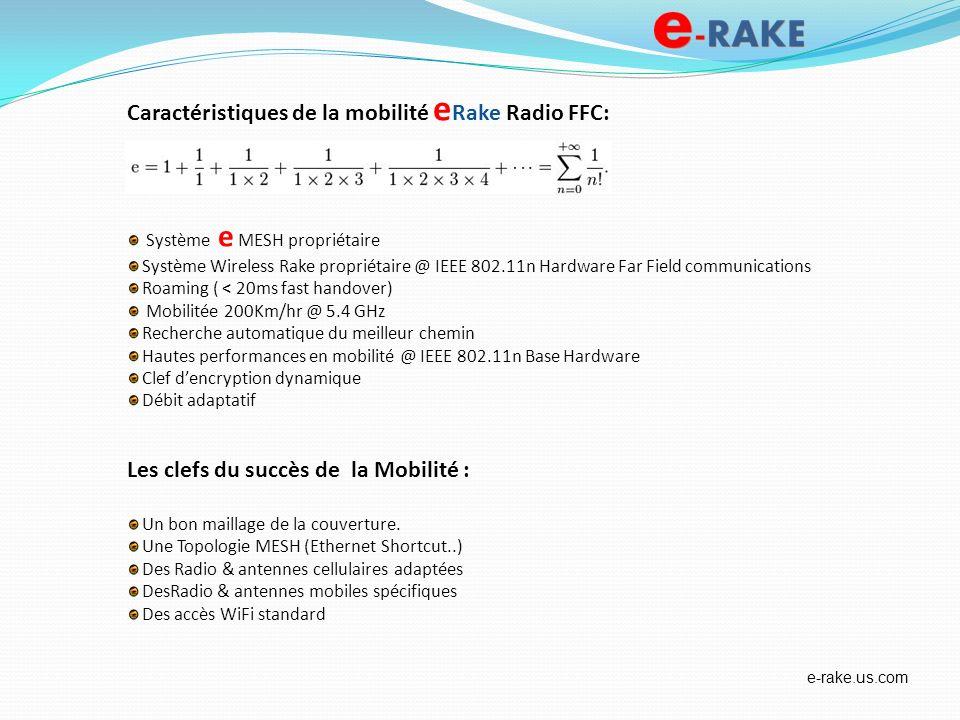 Caractéristiques de la mobilité e Rake Radio FFC: Système e MESH propriétaire Système Wireless Rake propriétaire @ IEEE 802.11n Hardware Far Field com