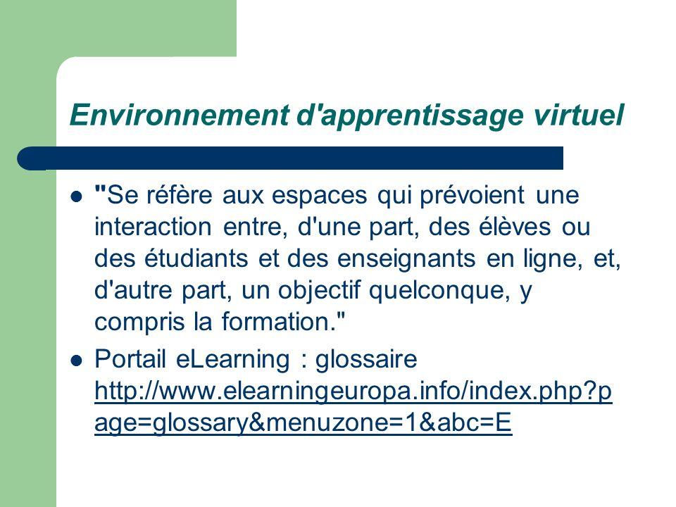 Environnement d'apprentissage virtuel