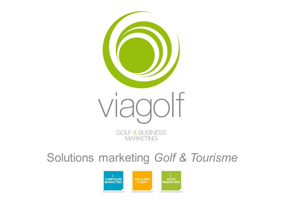 Solutions marketing Golf & Tourisme