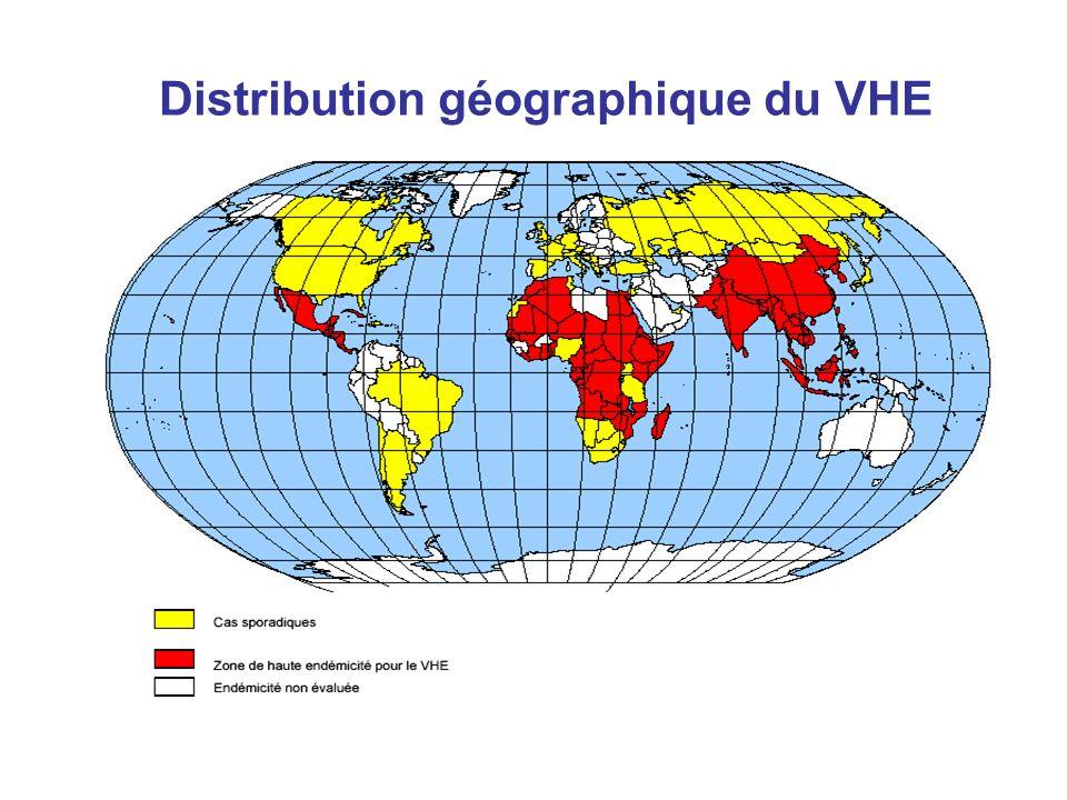 Distribution géographique du VHE