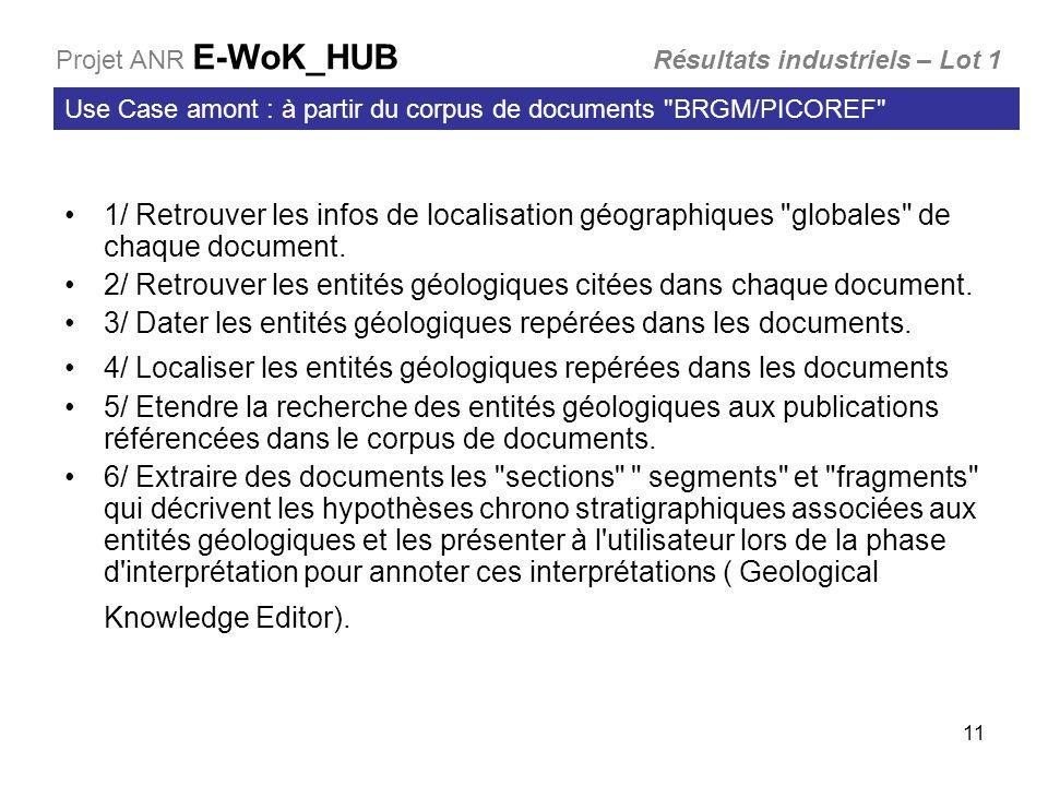 11 1/ Retrouver les infos de localisation géographiques globales de chaque document.