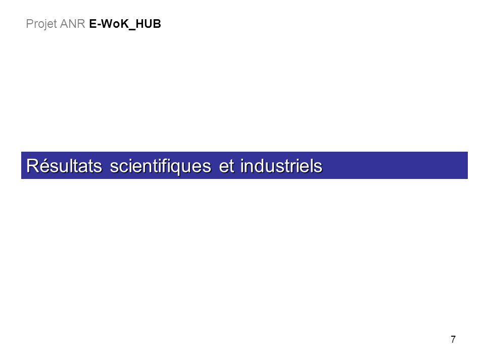 18 BESOINS & SPECIFICATION LOT 1 (1/2) MISE EN PLACE DU E-WOK_HUB LOT 4 PERSISTANCE DES ONTOLOGIES ET DES REGLES LOT 3 EVALUA TION LOT 1 (2/2) OUTILS ET METHODES GENERIQUES LOT 2 Expériences & background Applications existantes Besoins (cas dutilisation) Démos & analyse des résultats Outils spécifiques à la persistance Outils génériques K-repository et applications Leader BRGM Leader EADS Leader LISI Leader INRIA Leader BRGM Besoins & Specs Vision globale du projet Projet ANR E-WOK_HUB