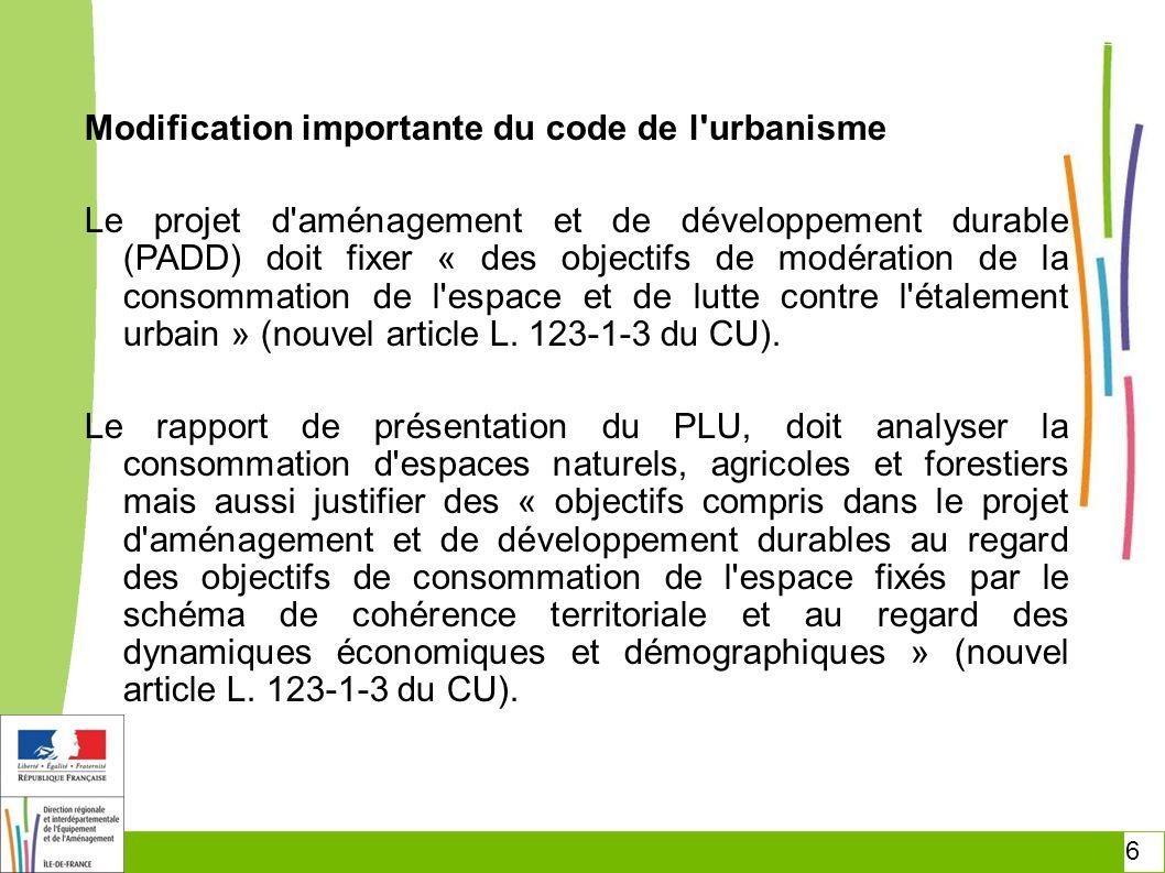7 Modification importante du code de l urbanisme Les OAP -Désormais obligatoires -Contenu « programmatique » (échéances) -Opposables .