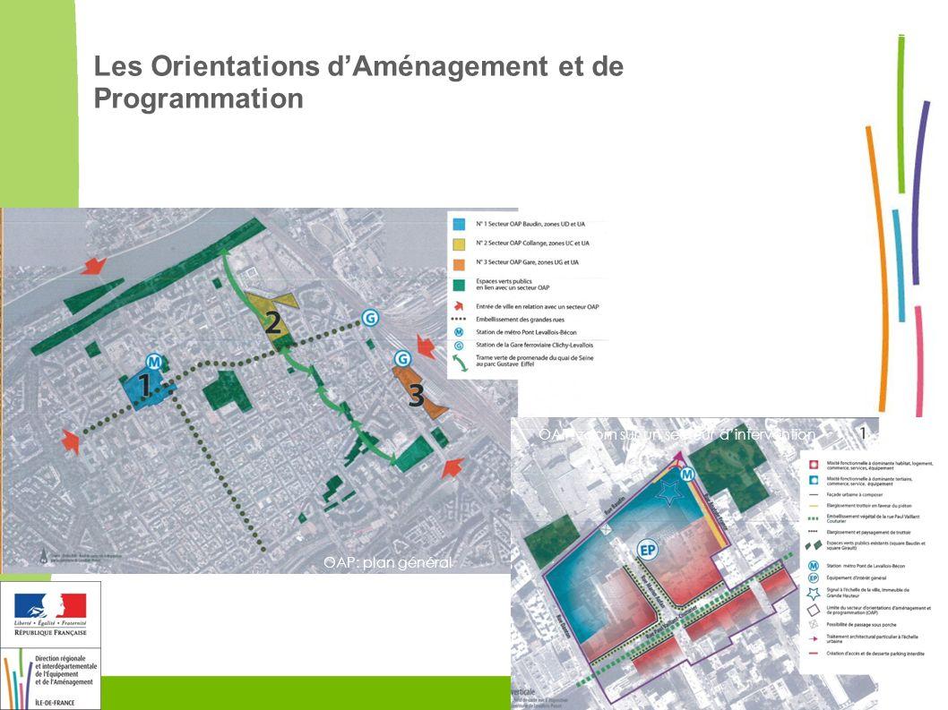8 OAP: plan général OAP: zoom sur un secteur dintervention Les Orientations dAménagement et de Programmation