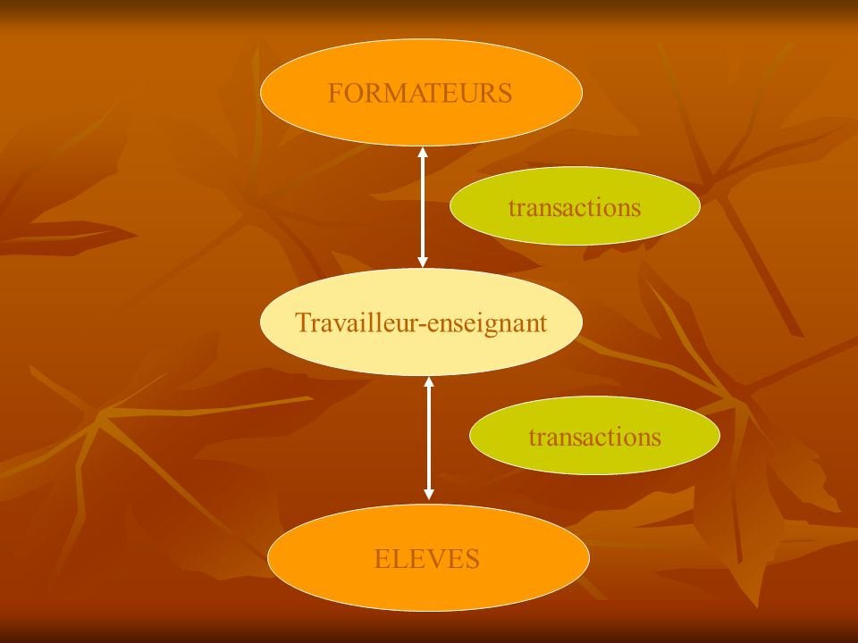 FORMATEURS ELEVES Travailleur-enseignant transactions