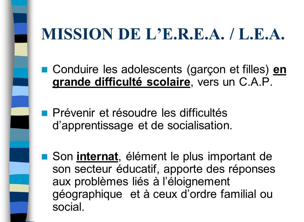 MISSION DE LE.R.E.A./ L.E.A.