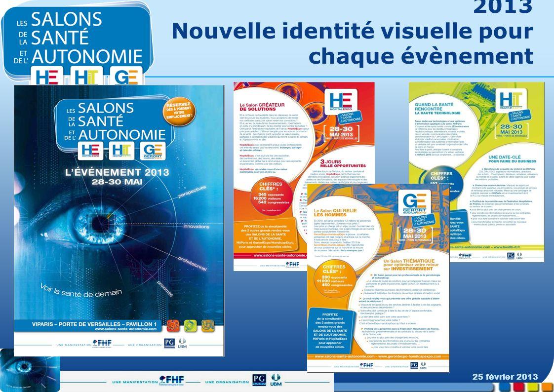2013 Nouvelle identité visuelle pour chaque évènement 25 février 2013