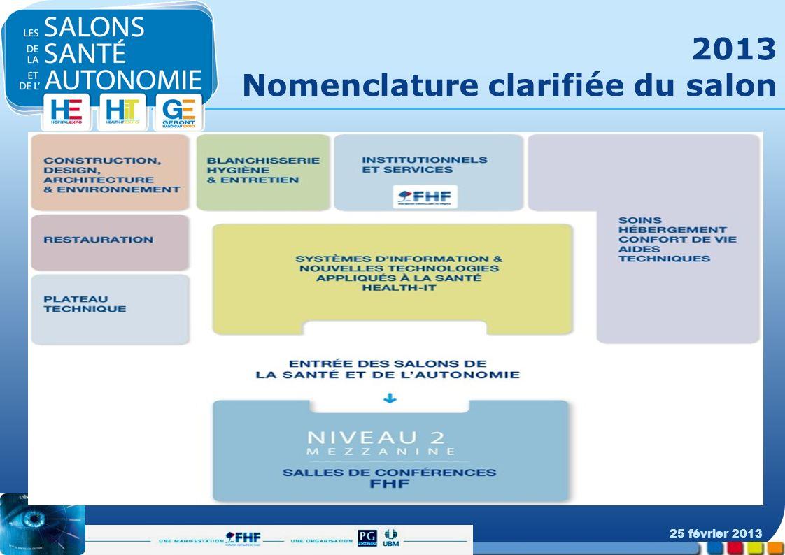 2013 Nomenclature clarifiée du salon 25 février 2013