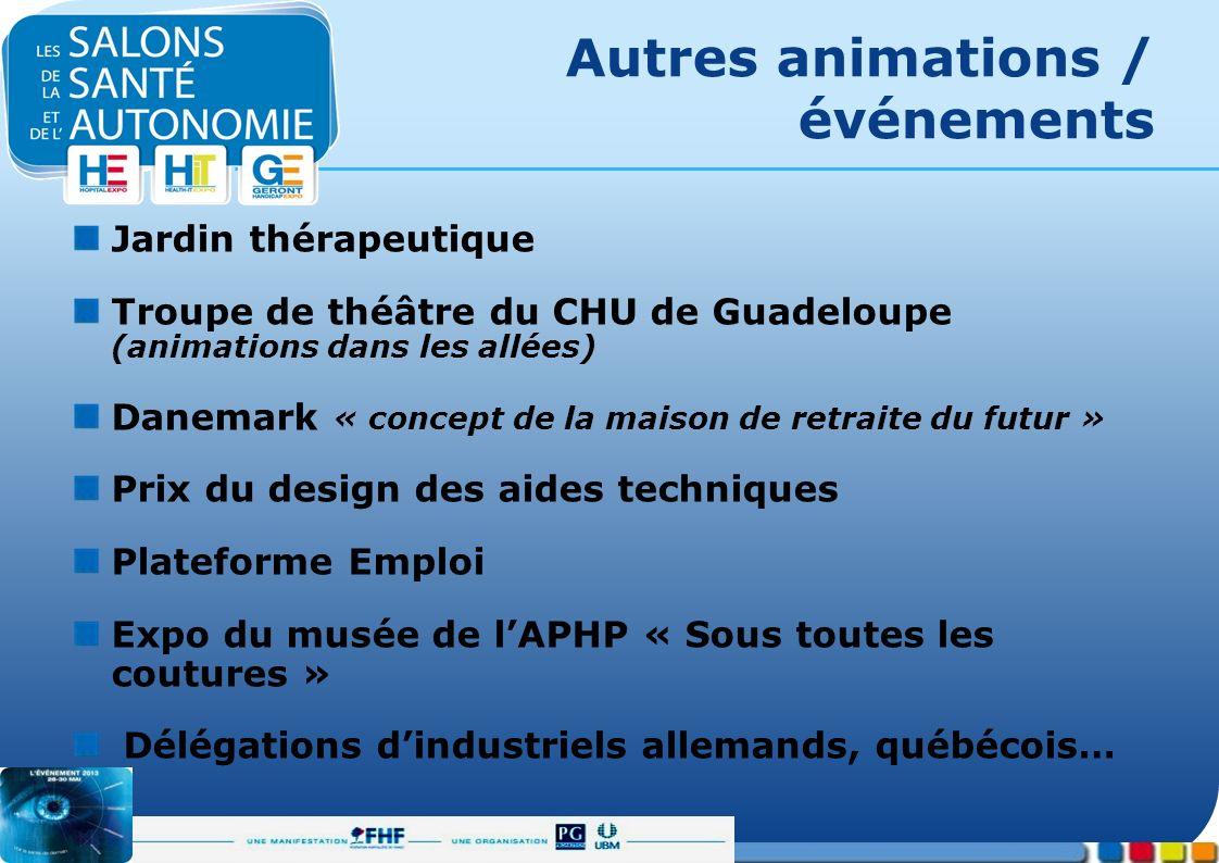 Autres animations / événements Jardin thérapeutique Troupe de théâtre du CHU de Guadeloupe (animations dans les allées) Danemark « concept de la maiso