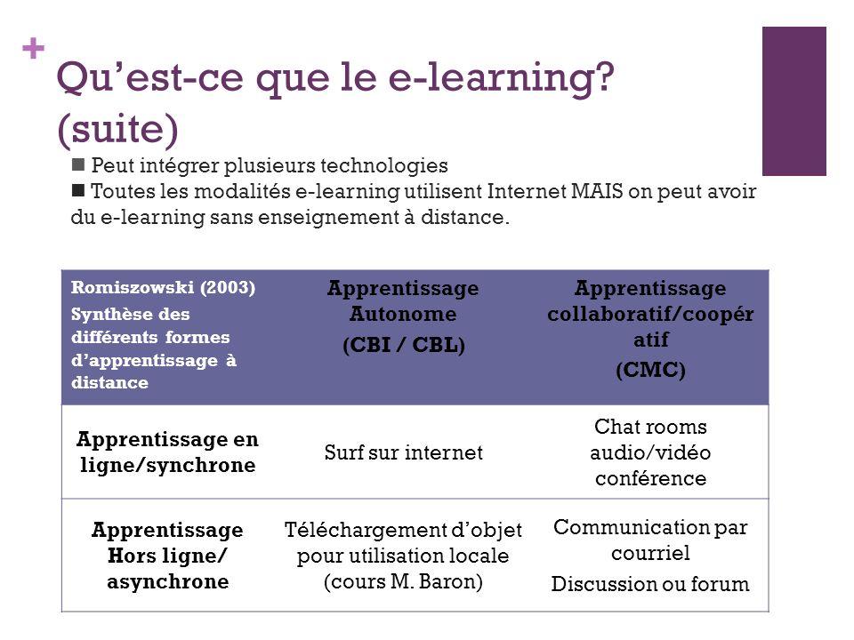 + Quest-ce que le e-learning.