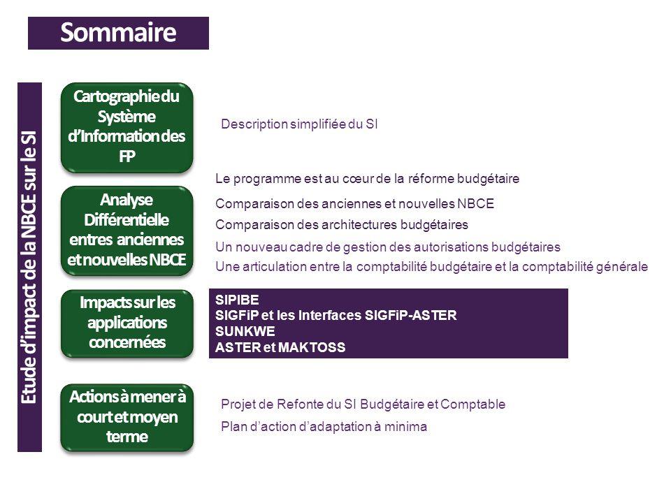 Sommaire Analyse Différentielle entres anciennes et nouvelles NBCE Cartographie du Système dInformation des FP Impacts sur les applications concernées