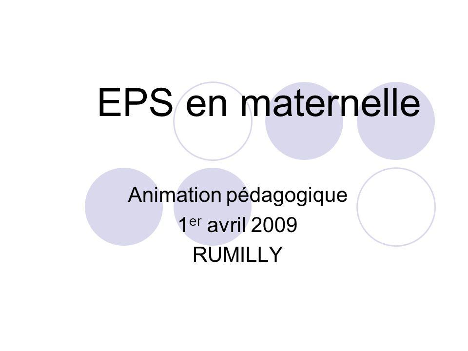 EPS en maternelle Animation pédagogique 1 er avril 2009 RUMILLY