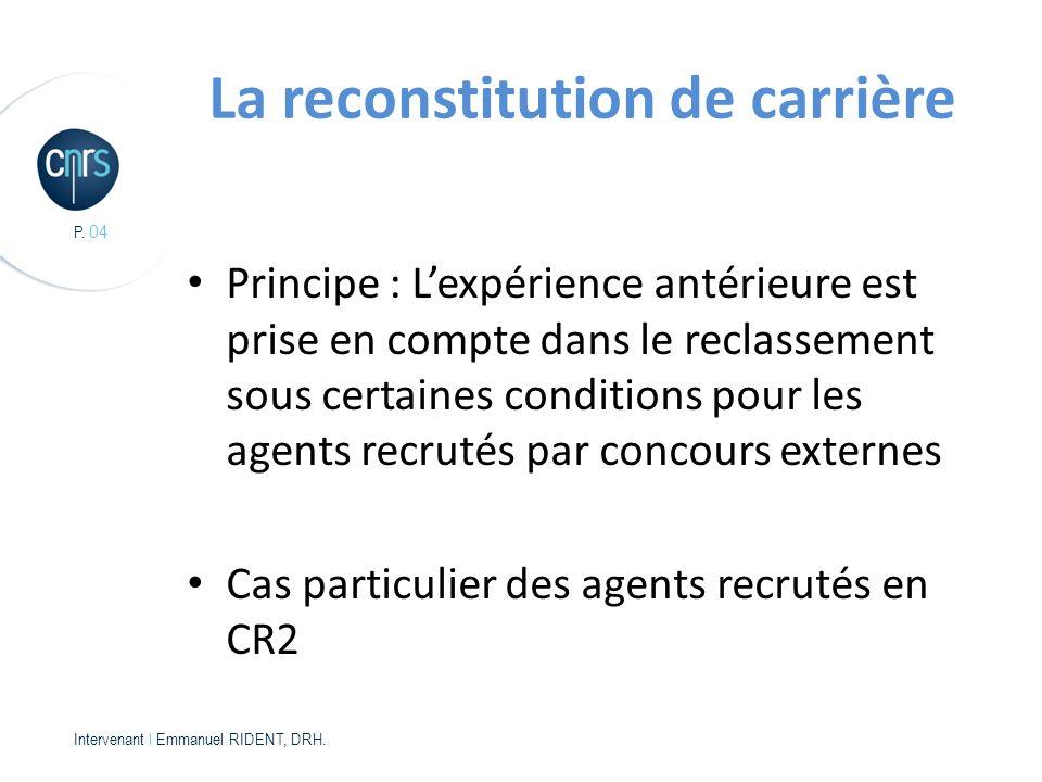 P.04 Intervenant l Emmanuel RIDENT, DRH.