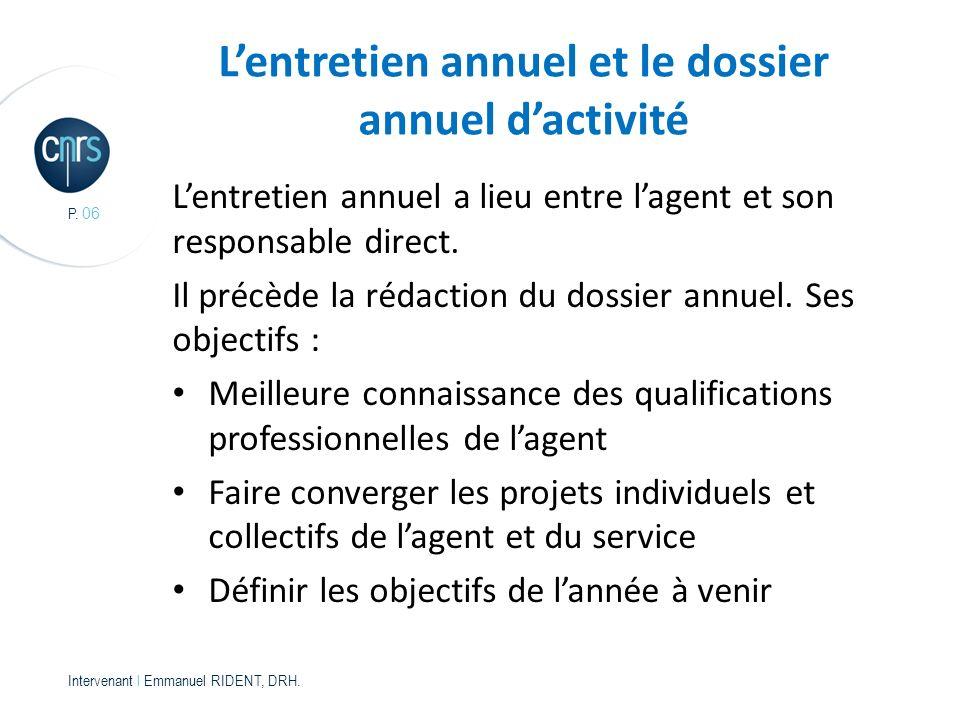 P.06 Intervenant l Emmanuel RIDENT, DRH.