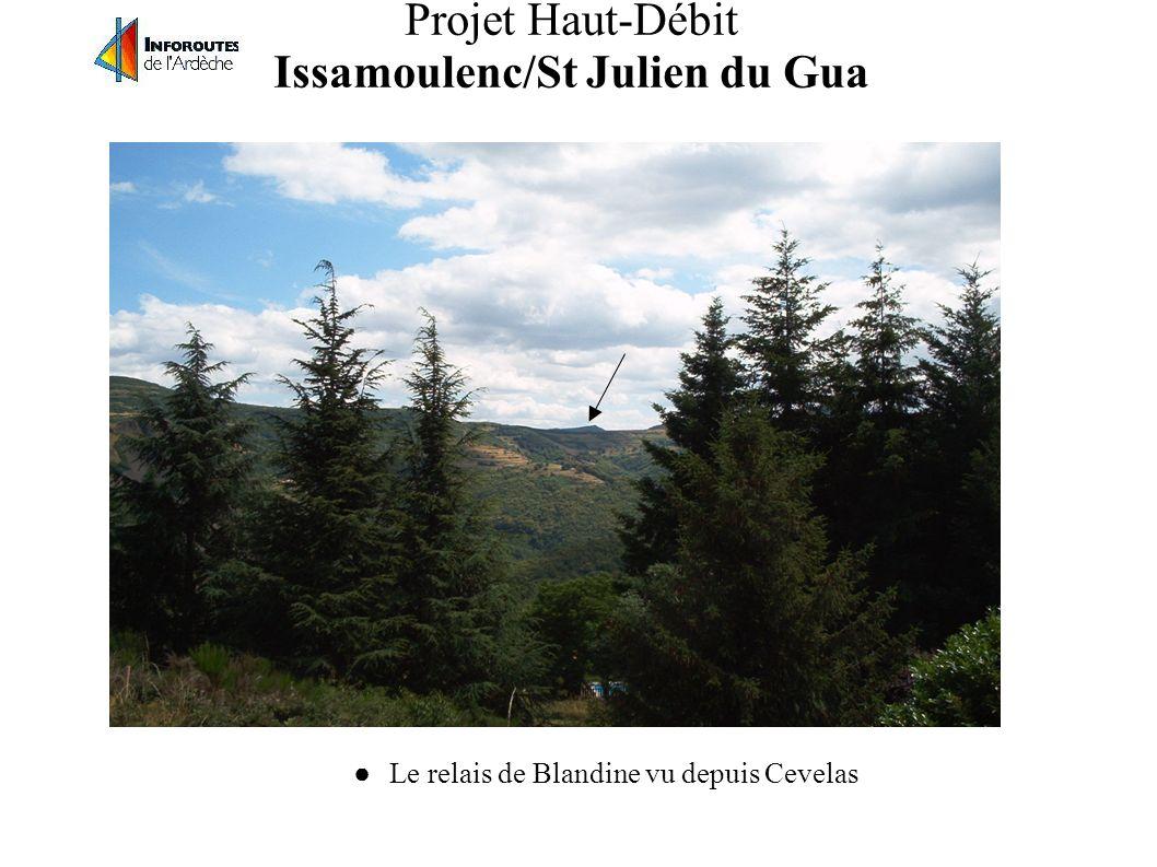 Projet Haut-Débit Issamoulenc/St Julien du Gua Couverture MMDS relais de Blandine