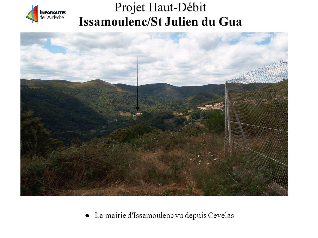 Projet Haut-Débit Issamoulenc/St Julien du Gua Le relais de Blandine vu depuis Cevelas