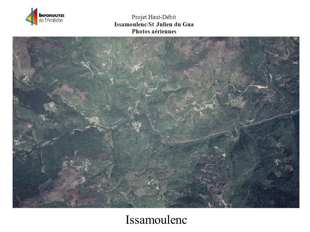 Projet Haut-Débit Issamoulenc/St Julien du Gua Photos aériennes Issamoulenc