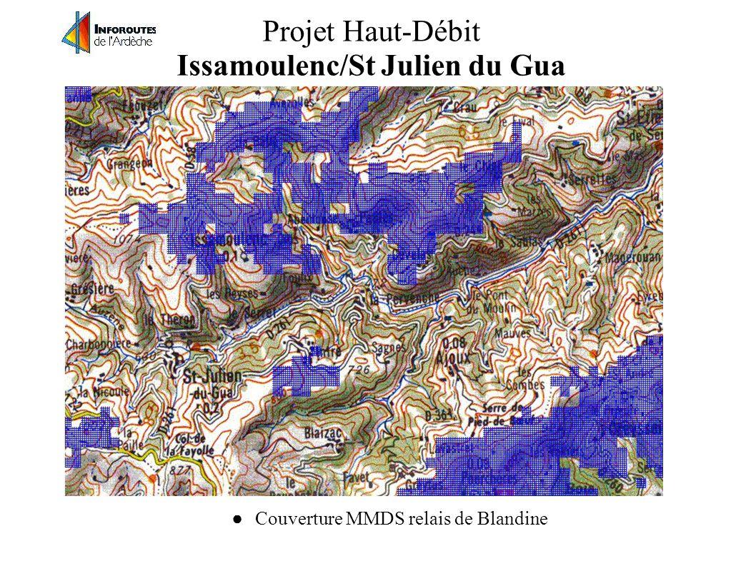 Projet Haut-Débit Issamoulenc/St Julien du Gua Le projet Haut-Débit : Créer un point d'accés haut-débit via MMDS à Cévelas, a vu du relais de Blandine