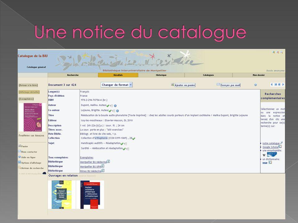http://www.sudoc.abes.fr/ Accès libre Livres, thèses, mémoires et périodiques dans les BU françaises