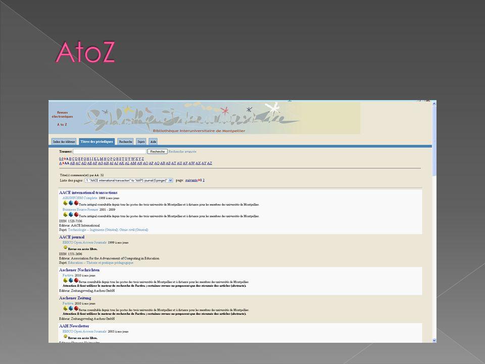 Google Scholar : http://scholar.google.fr/http://scholar.google.fr/ Lancé en 2004, moteur de recherche spécialisé dans la littérature de recherche universitaire, indexe des articles issus de périodiques avec évaluation par les pairs (peer-reviewed), des thèses, des livres, ect.