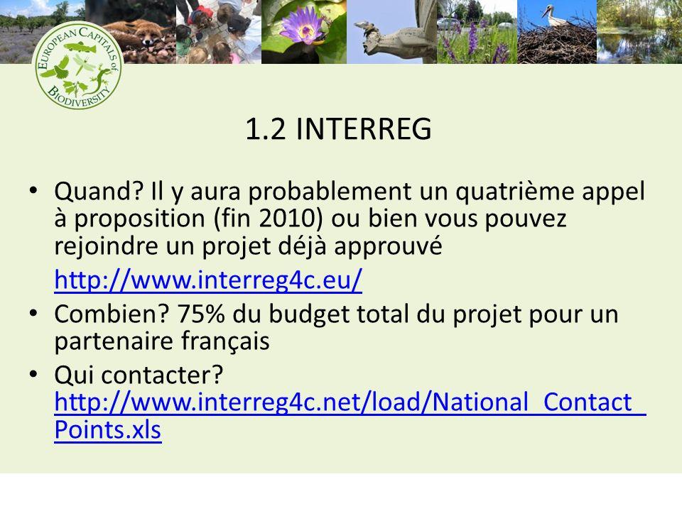 1.2 INTERREG Quand.