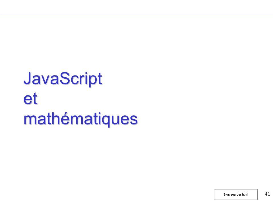 41 JavaScript et mathématiques