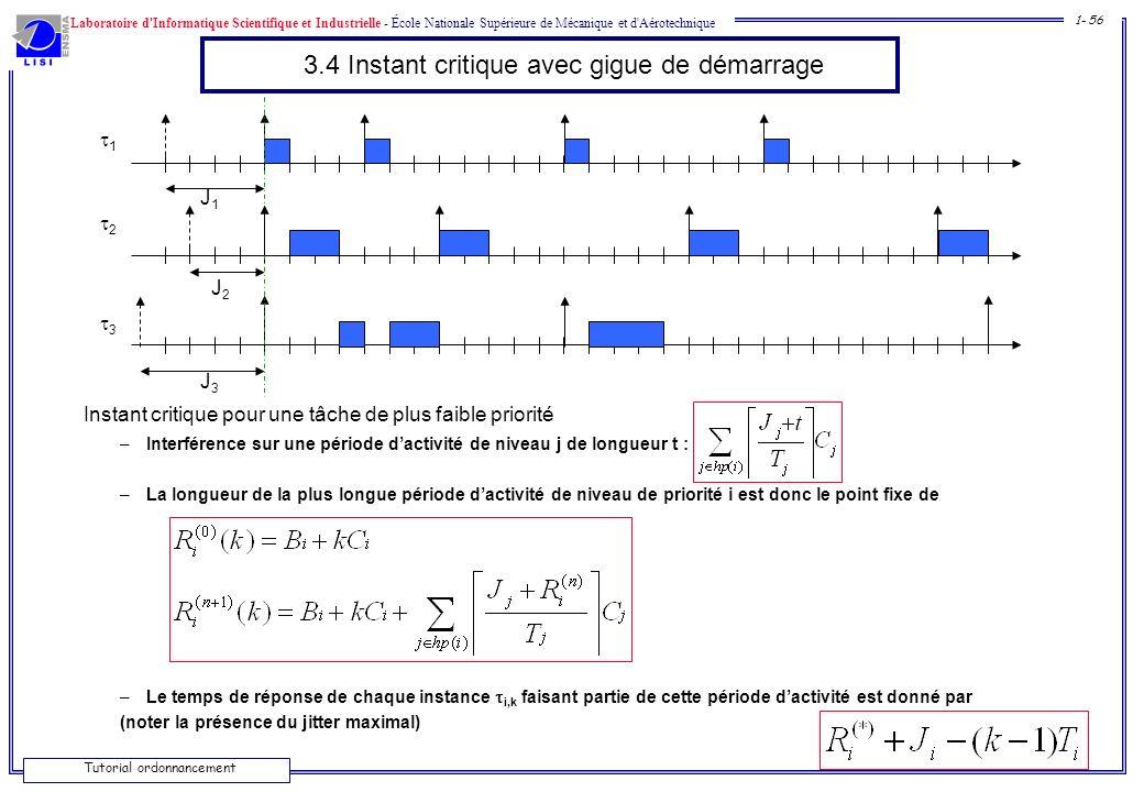 Laboratoire d'Informatique Scientifique et Industrielle - École Nationale Supérieure de Mécanique et d'Aérotechnique 1- 56 Tutorial ordonnancement 3.4