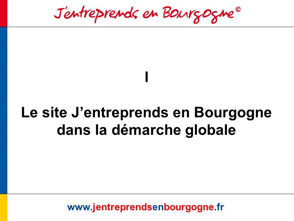 www.jentreprendsenbourgogne.fr I Le site Jentreprends en Bourgogne dans la démarche globale