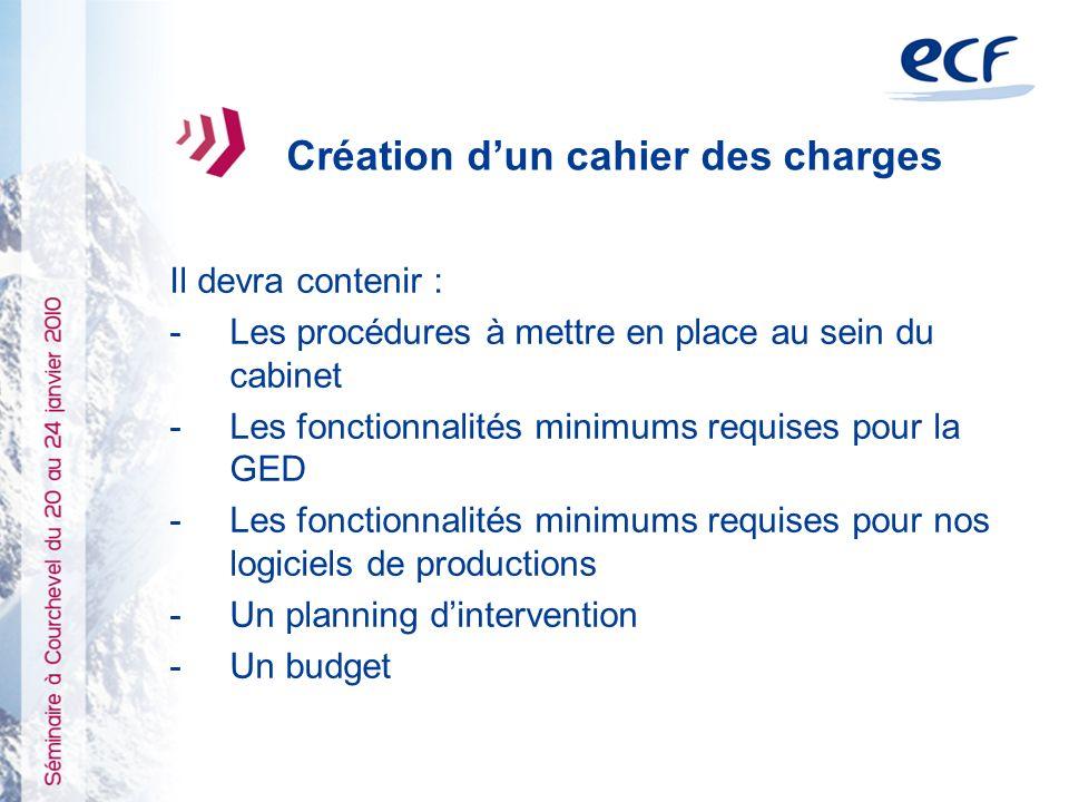 1)Création dun cahier des charges 2)Agrément de prestataires 3)Communication / déploiement dans les cabinets Comment généraliser la dématérialisation