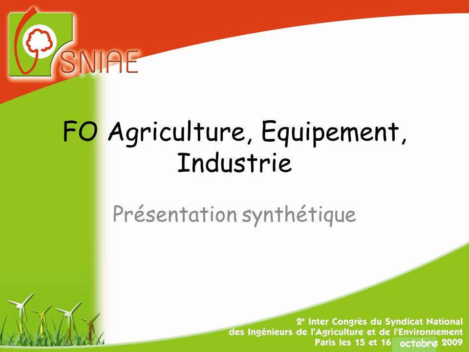 octobre FO Agriculture, Equipement, Industrie Présentation synthétique