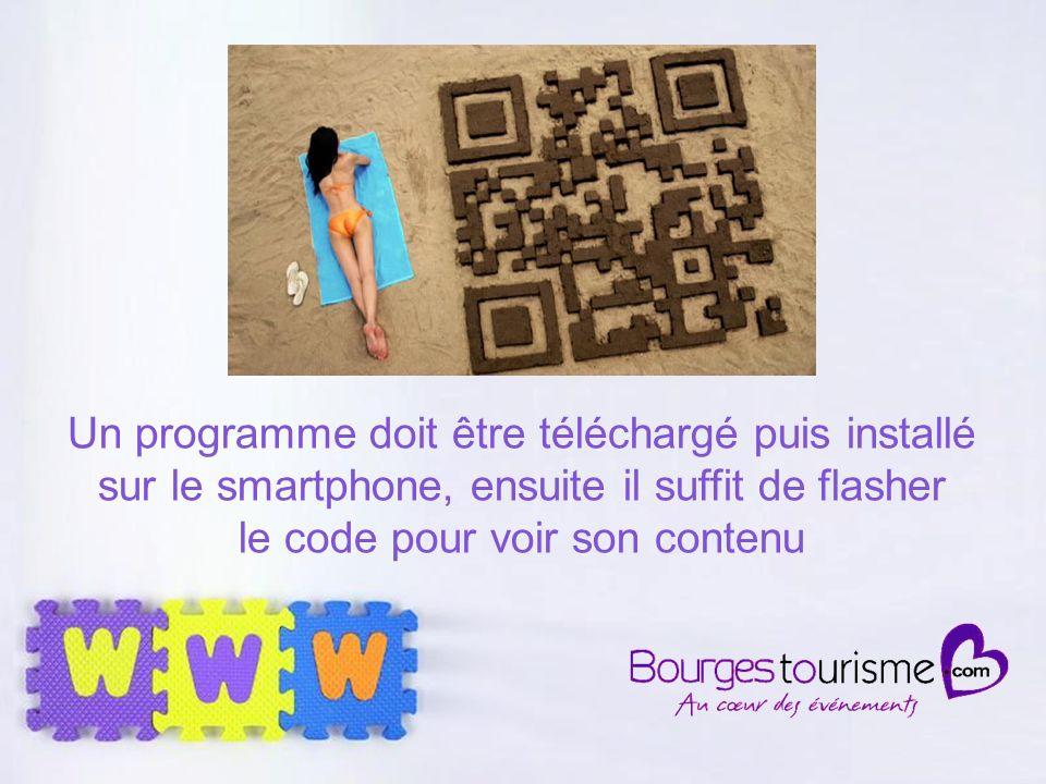 Page 28 Un programme doit être téléchargé puis installé sur le smartphone, ensuite il suffit de flasher le code pour voir son contenu