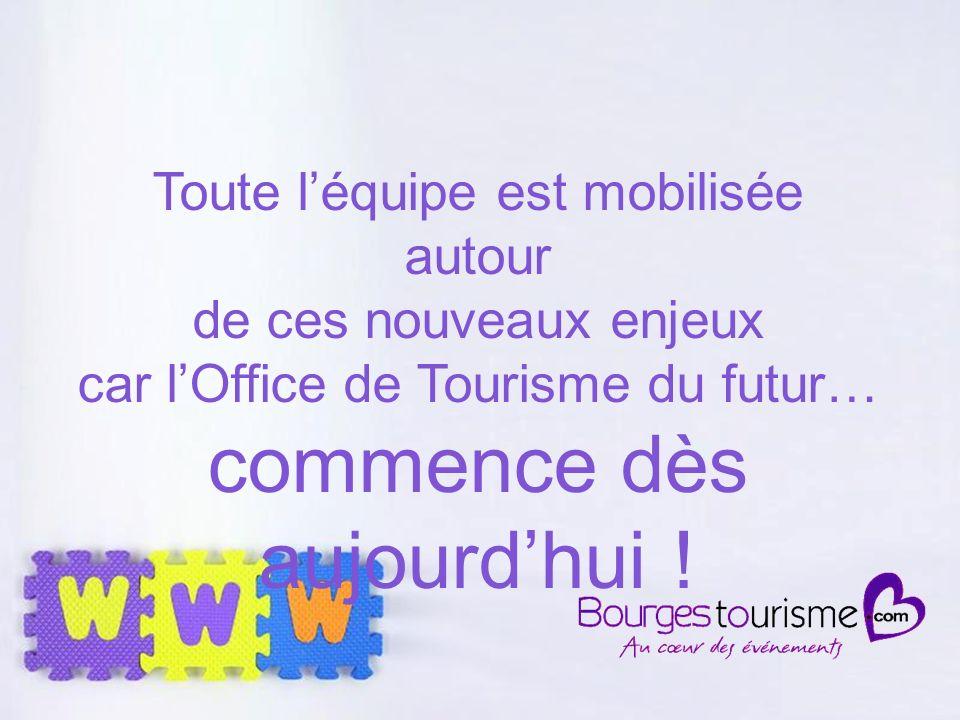 Page 30 Toute léquipe est mobilisée autour de ces nouveaux enjeux car lOffice de Tourisme du futur… commence dès aujourdhui !