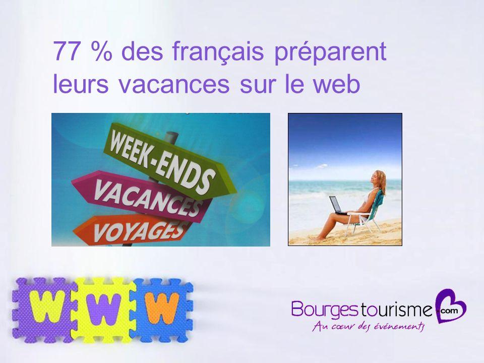Page 5 57 % des touristes venus dans le Cher ont préparé leurs vacances sur le web en 2010