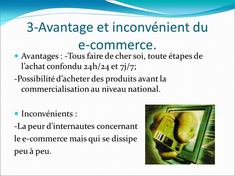 3-Avantage et inconvénient du e-commerce.
