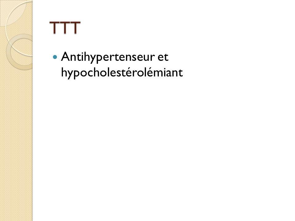 TTT Antihypertenseur et hypocholestérolémiant