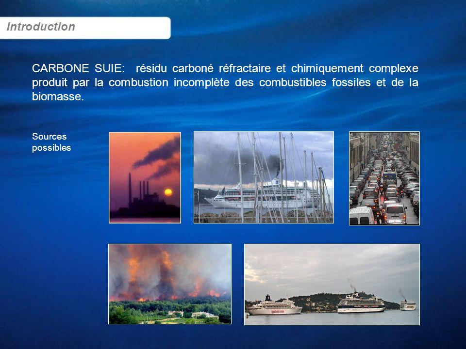 CARBONE SUIE: résidu carboné réfractaire et chimiquement complexe produit par la combustion incomplète des combustibles fossiles et de la biomasse. In